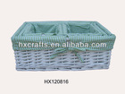 white cheap wholesale wicker rattan baskets set of 3