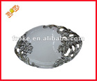 electroplate silvery modern ceramic fruit plate