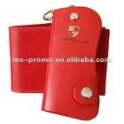 fashion design promotional red key case with logo