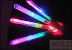 "glow stick, 8.5"", Plastic tube 4*LED 3*LR44 battery, 7 functions for party and children"