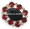 New Fashion Jewelry of Ruby & Black CZ Diamond Shawl Pin Brooch