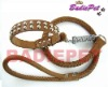 Genuine Leather Stud Dog Collars&Leash