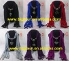 In Stock Wholesale 2012 Newest Jewelry Beaded Pendant Scarf