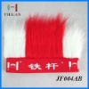 2012 hot selling high quality soccer fans wig for football club logo printing