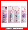 6pcs pastel kids hair accessory with hair clip