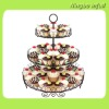 Wholesale Black Separable 3 Tier Metal Dessert Cupcake Decoration Art Cupcake Holder, Display, Cupcake Stand for Wedding,Parties