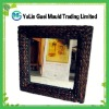 Wicker mirror natural banana leaf