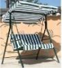 Luxury 3-seat garden iron Swing