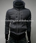 Men Double Collar Rider Style Causal Hoodie
