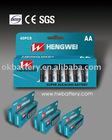 New paper package-Super Alkaline battery LR6 AA 1.5V 40PCS/PK