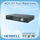New!!! Full D1 Real-time H.264 4 Channel Security DVR