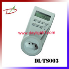South Africa weekly LCD digital display 250V timer switch