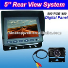 5'' Reverse Camera Kit with 4 PIN Aviation Connector,DC12V-DC24V Compatible