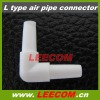 L-type air pipe connector