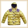 Hood quilted girls winter jacket