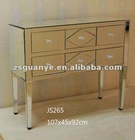 2012 New Design high quality clear mirrored chest of 6 drawers, mirrored chest, mirrored furniture