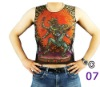 nylon mesh material full printed tattoo t-shirt