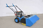 power sweeper with snow blade and dust collection