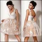 Novelty short ruched bubble skirt short halter fashion youth formal dresses