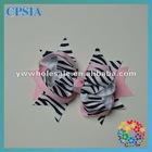fashion zebra hair bow baby hair bows bowknot