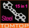 15 in 1 Bike Bicycle Cycling Steel Flat Hexagon Wrench Spanner Repair Tool