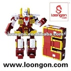 Loongon transformer toy between the Letter E and the robot with sound and light star wars