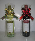 plastic pull bow as bottle decorate