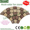 Yellow fan paving stone