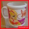 Beauty logo soft pvc mug cup