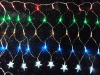 LED light color nets final layer with a star Christmas lights