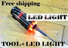 8 in 1 Multi Screwdriver with LED Portable Torch Set, hand tool led screwdriver