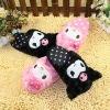 plush kuromi shaped plush slippers for wholesale