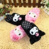 plush kuromi shaped plush slippers for wholesale