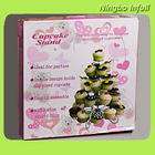 5-tier Metal Dessert/Cupcake Stands - to hold 13 cupcakes