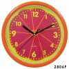 Plastic Orange Clock for Promotion and Home Decoration