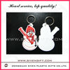 Marry Christmas PVC keychain hot sale