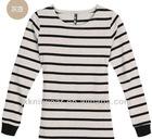 Long Sleeve Black/White Strip tshirt for girl