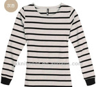 Long Sleeve Black/White Strip tshirt for girl