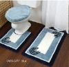 3 pcs table tufted bathmat (5M3502PPB)