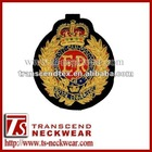 Embroidered Cap Badges,Royal Police badge, Hand embroidery bullion wire badges