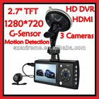 Support G-sensor Motion detection recording With HDMI Interface Dual Lens Car Black Box Camera
