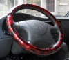black and red PVC drift steering wheel cover