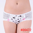 lady boyleg cotton printed short brief women panties stock undergarment hot lingerie