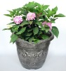 Silver plastic flowerpot stand