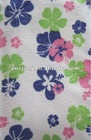 Microfiber towel with flower design