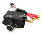 car acoustics voice adjuster audio cable, suitable for adjusting voice between car acoustics CD and power amplifer