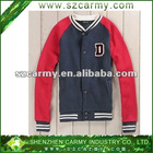 Gray & Light Pink Spring & Autumn College Stylish Stand Collar 100% Cotton Varsity Student Fleece Jackets
