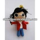 mini handicraft cute fabric red string voodoo doll boy