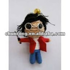 mini handicraft cute fabric red string voodoo doll boy