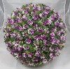 Artificial 30cm Plastic Purple Rose Flower Ball Garden Decoration ---- Largest factory